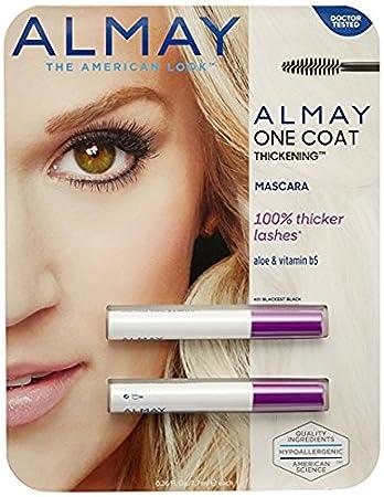 b2650eaad5a Amazon.com : Almay One Coat Thickening Mascara--2 Pack : Beauty