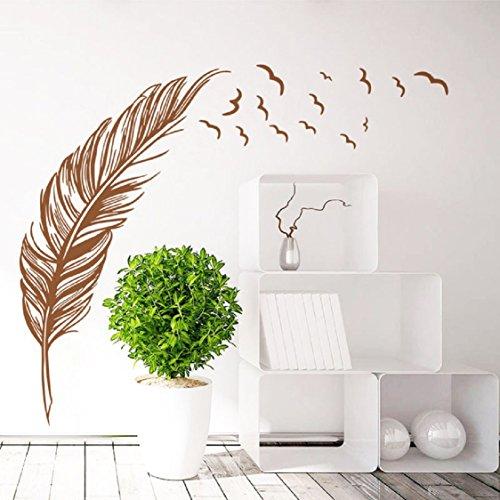 brown bedroom wall decals - 6