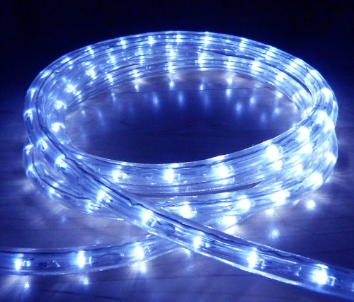 Blue led outdoor rope light with 8 functions chasing static etc blue led outdoor rope light with 8 functions chasing static etc mozeypictures Image collections