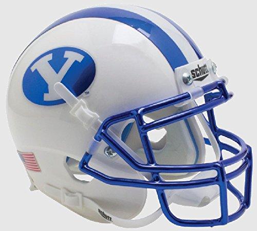 Schutt BRIGHAM YOUNG COUGARS NCAA XP Authentic MINI Football Helmet BYU (CHROME)
