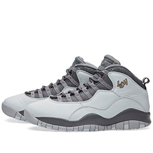 Nike Air Jordan Retro 10, Zapatillas de Baloncesto para Hombre pr pltnm, mtllc gld-drk gry-cl