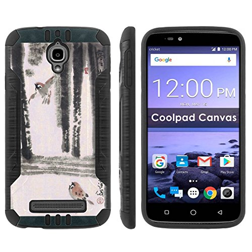 Birdcage Canvas - Coolpad Canvas 3636A Shock Proof Phone Case [Black/Black] |Bird Cage| Ultra Defender Protective Phone Case