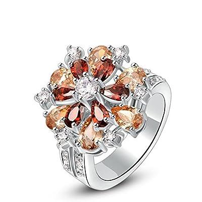 Winter.Z Womens Jewelry Popular Explosion Models Multicolor Ring Wedding Platinum