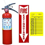 (Lot of 1) Victory 2 1/2 Lb. Type ABC Dry Chemical Fire Extinguishers, with 1 - Vehicle Brackets and 1 - Yellow Inspection Tag and Sign