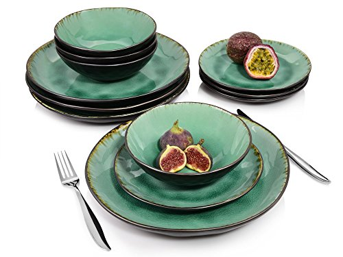 S 228 Nger Palm Beach Dinner Service Porcelain 12 Pieces Capacity Of Bowls 550 Ml Table Service