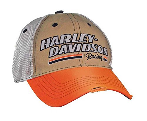 Harley-Davidson Men's H-D Racing Baseball Cap - Khaki, White & Orange BC39979