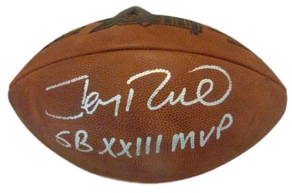 Jerry Rice Autographed San Francisco 49ers SB XXIII Football SB MVP JSA