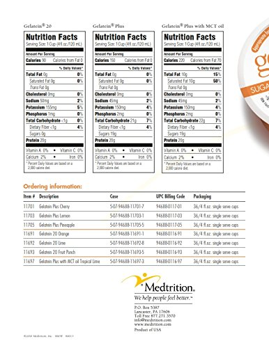 Gelatein 20 Orange: 20 grams of protein. Sugar free. Ideal for clear liquid diets, swallowing difficulties, bariatric, dialysis and oncology. Great pre or post-workout snack. (14 pack) by Medtrition (Image #5)