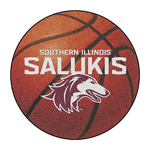FANMATS NCAA Southern Illinois University Salukis Nylon Face Basketball Rug (Southern University Basketball Rug)