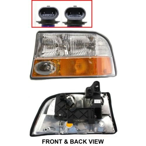 OE Replacement GMC/Oldsmobile Driver Side Headlight Assembly Composite (Partslink Number GM2502173) - Oldsmobile Bravada Headlight Headlamp
