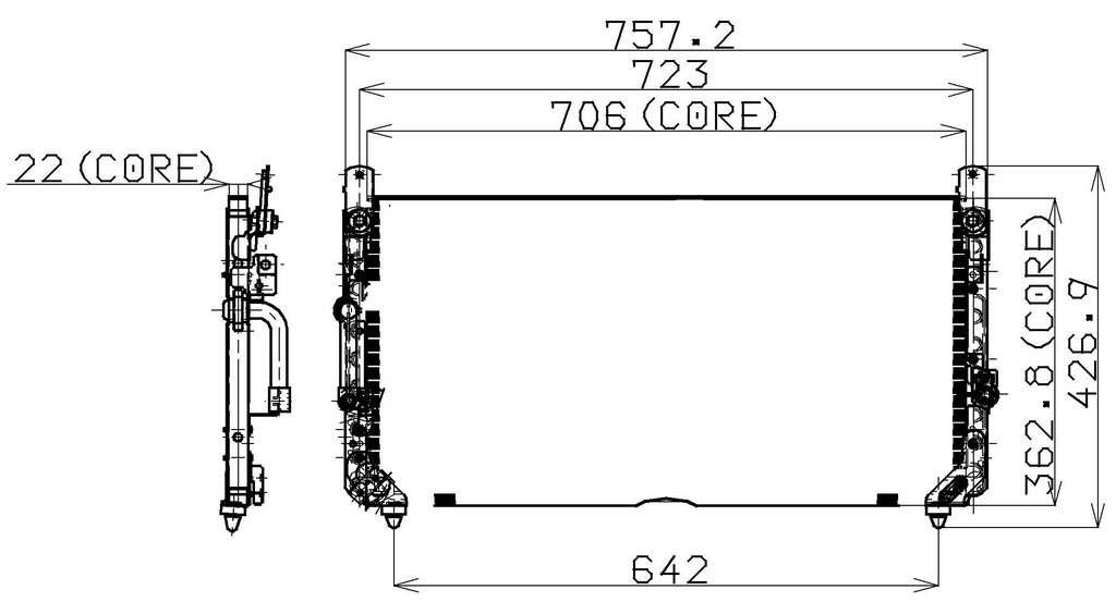 Denso 477-0554 Condenser