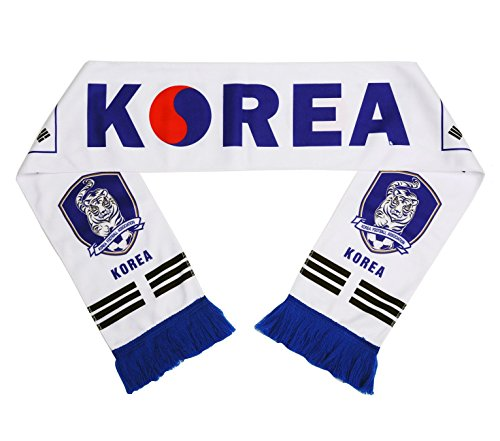 JAVI Sports FIFA 2018 World Cup National Team Scarves - All 32 Clubs to Choose from - Footbal Soccer Scarf (South Korea Alt. 1) (Serbia World Cup)