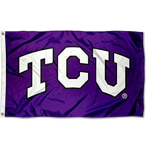 (TCU Horned Frogs Large TCU Logo 3x5 College Flag )