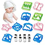 Netany 18pcs Sandwich Cutter / Crust Cutters / Bread Cutter Shapes - Come with 8 mini Vegetable Cutters