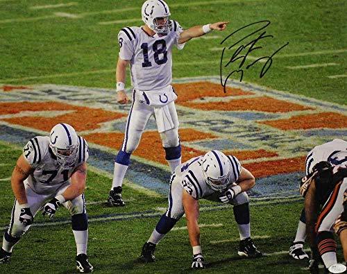 (Peyton Manning Autographed/Signed Indianapolis Colts 16x20 Photo SB XLI)