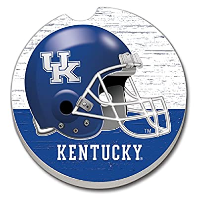 University of Kentucky Helmet Design Single Ceramic Car Coaster by CounterArt