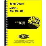 New Operators Manual For John Deere Lawn & Garden Tractor 318