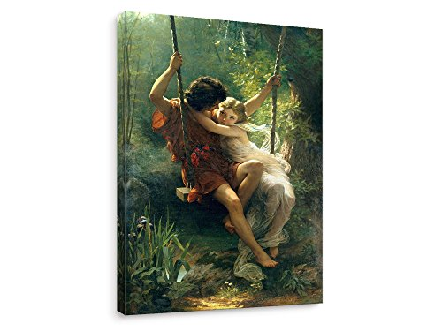 Cot Painting - Niwo ART (TM) - Spring 1873, by Pierre Auguste Cot - Oil Painting Reproduction - Giclee Wall Art for Home Decor,Office or Lobby, Gallery Wrapped, Stretched, Framed Ready to Hang (18
