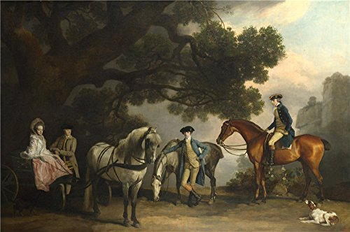 Express Melbourne Costumes (High Quality Polyster Canvas ,the Replica Art DecorativePrints On Canvas Of Oil Painting 'George Stubbs The Milbanke And Melbourne Families ', 8 X 12 Inch / 20 X 31 Cm)