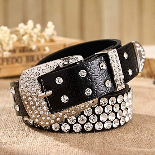 - QARYYQ Joker Lady Belt Fashion Belt Women's Rhinestone Inlay Wide Belt Ladies Belt (Color : 02)