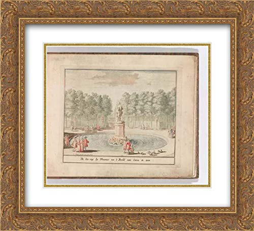 Carel Allard - 22x20 Gold Ornate Frame and Double Matted Museum Art Print - De Zes-weg by Phaunus na 't Beeld Van Ceres te zien', in: Tooneel Der Voornaamste Nederlands Huizen, En Lust Hoven, Naar T