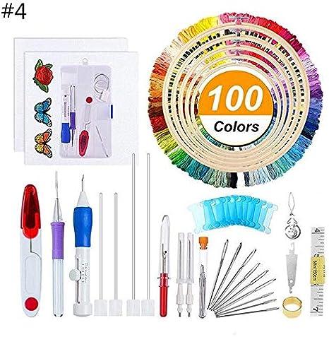 Punch Needle Kit Magic Embroidery Needles Stitching Patterns Pen Set Craft Tool
