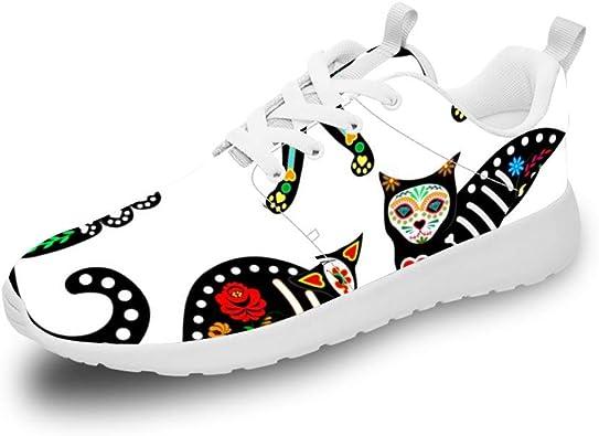 Mesllings Zapatillas de Running Unisex Estilo Retro, con diseño Especial y Forma de Gato, Ligeras, Deportivas, para Exteriores: Amazon.es: Zapatos y complementos