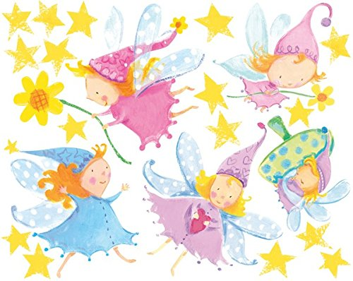 Wallies Magical Fairies Large Decal Vinyl Wall Stickers for Girls