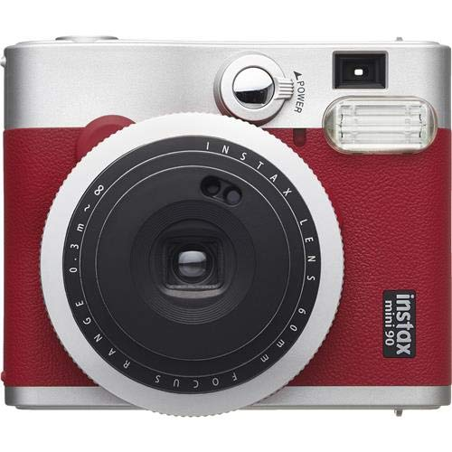 Fujifilm Instax Mini 90 Neo Classic Camera, Instant Film Camera, USA – Red