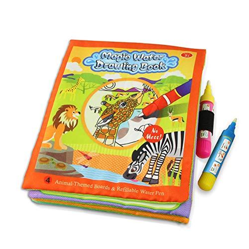 XuBa 水の描画の本 教育用おもちゃ 子供の 赤ちゃんの 漫画の動物のマジックペンの絵画の 子供たちのための 教育用おもちゃ 2363-1