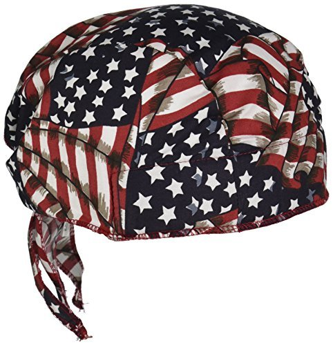 (Occunomix TN6-WAV Tuff Nougies Deluxe Tie Hat with Elastic, Wavy Flag (Pack of 1) by Occunomix)