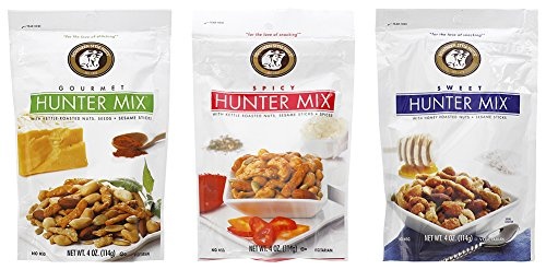 (Southern Style Nuts Hunter Mix Bundle: Gourmet Hunter, Spicy Hunter, Sweet Hunter Mix - 4 oz Each)