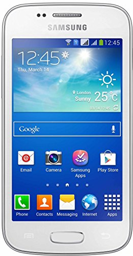 Samsung Galaxy Trend DUOS 2 S7572 4 Dual SIM Android Smartphone (GSM Factory Unlocked) - Dual Core 1.2GHz CPU, 4GB, 3MP Camera, 3G 900/2100 MHz, International Version - White