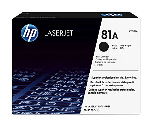 HP 81A (CF281A) Black Original Toner Cartridge by HP
