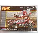 Monogram #2752 World of Outlaws Brad Doty Gambler Sprint Car 1/24 Plastic Model Kit by Monogram