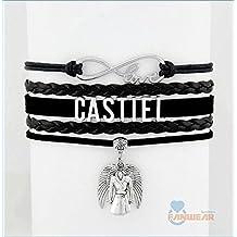 Infinity Love Supernatural Bracelet Heart Charm Castiel