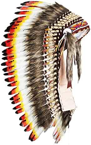 f674e33f Y31 Medium Swan Feather Headdress | Native American Indian Inspired.