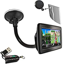 ChargerCity® OEM Gooseneck Windshield Suction Cup Mount for TOMTOM VIA 1400 1405 1435 1500 1505 1535 1600 1605 1635 GPS Navigator w/Free Charger City Micro SD Memory Card Reader Writer *Item include Manufacture Direct Replacement Warranty*