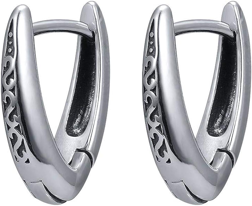 Men/'s Sword Dagger Stainless Steel Earring Jewelry Guy Grunge Punk Goth Hoops