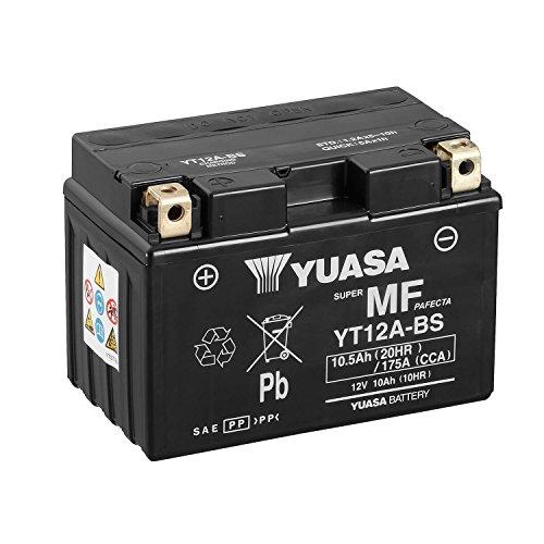 YUASA Batteria YT12A-BS-Combipack, elettroliti)