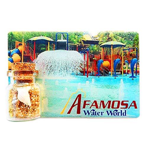 (Alfa Mossa Water World Malacca Malaysia 3D Refrigerator Fridge Magnet Travel City Souvenir Decoration Collection White Board Sticker Resin)