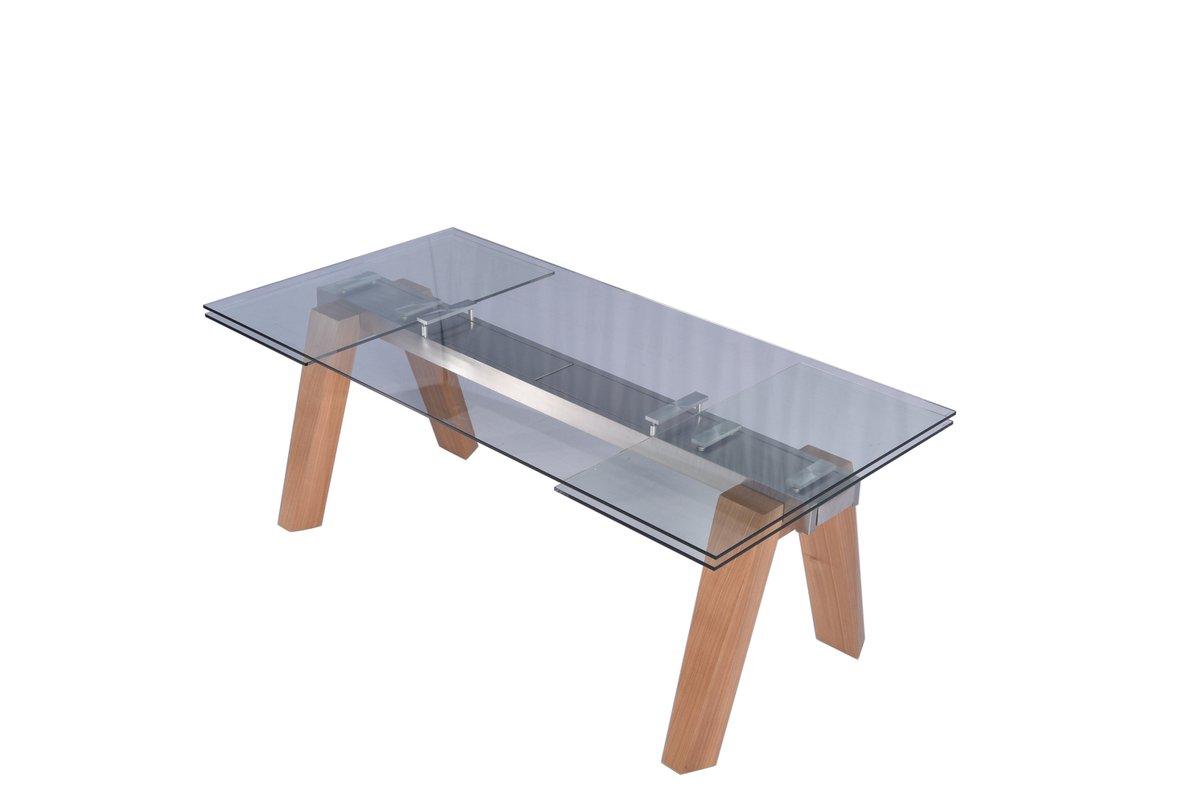 Esstisch Mounty Glastisch 200 - 300cm x 100cm ausziehbar