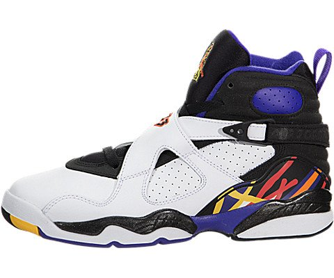 2b6be5e68b5f26 Jordan Air 8 Retro Threepeat BG Big Kids  Shoes White Infrared-Black ...