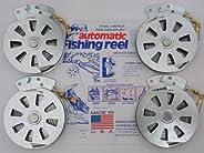4 Mechanical Fishers Yo Yo Fishing Reels -Package of 4 Reels- Yoyo Fish Trap -(FLAT TRIGGER MODEL)