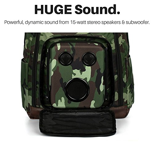 Bluetooth Speaker Backpack With 15-Watt Speakers Subwoofer For Parties/Festiva 689994104996