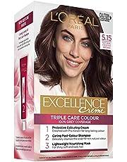 L'Oréal Paris Excellence Creme, 5.15 Natural Frosted Brown (100% Grey Coverage)