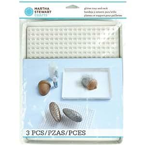 Amazon.com: Martha Stewart Crafts Glitter Tray and Rack