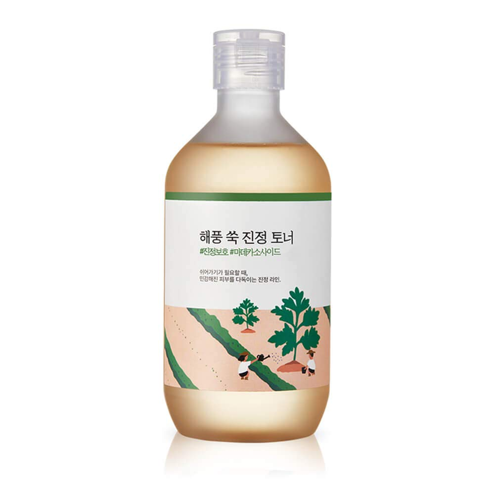 Roundlab Mugwort Facial Calming Toner Skin Soothing Protection Moisturizing, 10oz