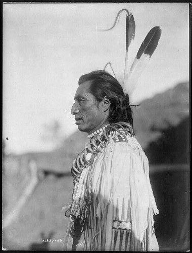 Photo Crows Heart--Mandan Indian,November 19,c1908,North Dakota,Edward S Curtis