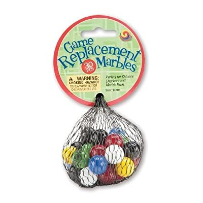 Mega Marbles Chinese Checkers Replacement Marbles - Half Set: Toys & Games